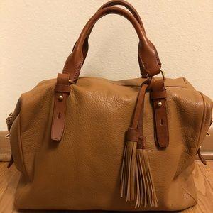 J.Crew leather bowling bag